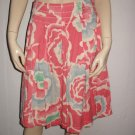 Lil Anthropologie Pleated Pink Cotton Skirt 4 S Small