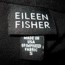 Eileen Fisher Black Viscose Zip Up Cardigan Top S Sm