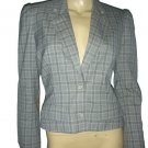 $1295 Christian Dior Pearl Snap Leather Patch Blazer 8