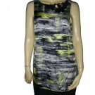 $438 Robert Rodriguez Brushstroke Silk Dress 8 M Medium