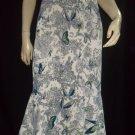 $1080 Luisa Beccaria Butterfly Print Velvet Skirt 44