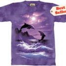Romancing the Moon Dolphin T-Shirt by The Mountain M,L,XL