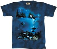 Stormy Night Killer Whale T-Shirt by The Mountain M,L,XL