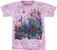 Wind Dancers Hummingbird & Foxgloves T-Shirt by The Mountain M,L,XL