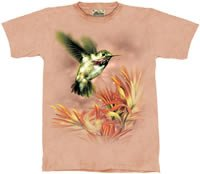 Small Package Hummingbird T-Shirt by The Mountain M,L,XL