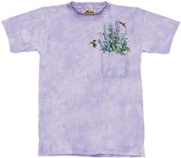 Pocket Bouquet Flower & Hummingbird T-Shirt by The Mountain M,L,XL