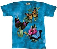 Winged Collage Butterfly T-Shirt by The Mountain M,L,XL