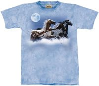 Moon Runner Horse T-Shirt by The Mountain M,L,XL