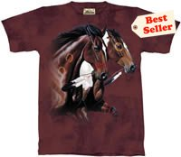 Freedom's Frolic Horse T-Shirt by The Mountain M,L,XL