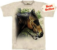 Horse at a Fence T-Shirt by The Mountain M,L,XL