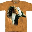 Three Horses Portrait Horse T-Shirt by The Mountain M,L,XL