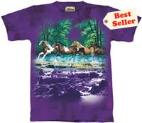 Spring Creek Run Horse T-Shirt by The Mountain 2XL, 3XL