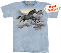 Running Free Horse T-Shirt by The Mountain 2XL,3XL