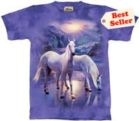 Mystical Horses T-Shirt by The Mountain 2XL, 3XL