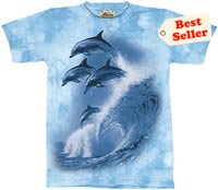 Four Dolphins T-Shirt by The Mountain 2XL 3XL