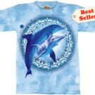 Dolphin Pair Dye T-Shirt by The Mountain 2XL 3XL