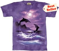 Romancing the Moon Dolphin T-Shirt by The Mountain 2XL 3XL