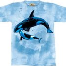 Orca Duo Killer Whale T-Shirt by The Mountain 2XL 3XL