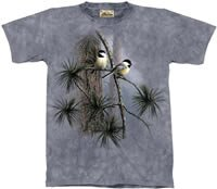 Red Pine & Chickadees T-Shirt by The Mountain 2XL 3XL