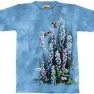 Blue Heaven Hummingbirds & Flowers T-Shirt by The Mountain 2XL 3XL