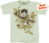 Hang in There Kitten T-Shirt by The Mountain 2XL 3XL