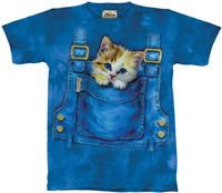 Kitty Overalls Kitten T-Shirt by The Mountain 2XL 3XL