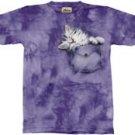Pocket Kitty Kitten T-Shirt by The Mountain M L XL