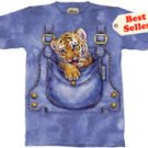 Bengal Tiger Cub Overalls T-Shirt  by The Mountain M L XL
