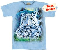 White Tiger Mother & Cub T-Shirt by The Mountain M L XL
