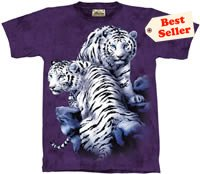 Sanctuary White Tiger T-Shirt by The Mountain M L XL