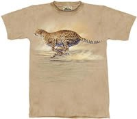 Running Cheetah T-Shirt by The Mountain M L XL