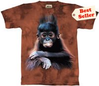 Orangutan Baby T-Shirt by The Mountain M L XL