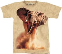 Rush Elephant T-Shirt by The Mountain M L XL