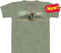 Asian Elephants T-Shirt by The Mountain M L XL