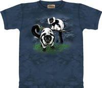 Black & White Lemurs Lemur T-Shirt by The Mountain M L XL