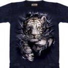Breakthrough White Tiger T-Shirt by The Mountain M L XL