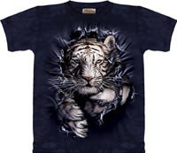 Breakthrough White Tiger T-Shirt by The Mountain M L XL