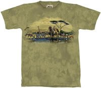 Gathering Place Zoo & Safari Animals T-Shirt by The Mountain 2XL 3XL