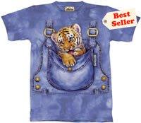 Pocket Tiger Cub T-Shirt by The Mountain 2XL 3XL