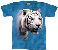 White Bengal Tiger Profile T-Shirt by The Mountain 2XL 3XL