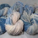 SALE hand dyed huge lot yarn blue jeans wool  NEW