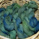 hand dyed lot of 5 skeins yarn wool heathered ponds njy