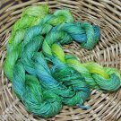 hand dyed  yarn 100% SILK 4 ply 600 yards set of 3 skeins green grass of home