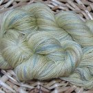 hand dyed  yarn 70% alpaca 30% silk 440 yards laceweight wheat field sock shawl