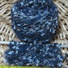 njy combo yarn blend mix alpaca mohair silk rayon blue bubbles tufts