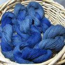 hand dyed  yarn 100% alpaca lace 880 yds falls blue bonnets wow soft!