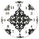 Versailles Black & White Wall Clock