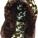 Cammo & Minky Infant Car Seat Cover