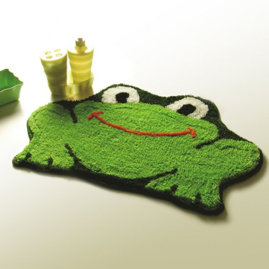Green Frog Kids Room Rug~Temporarily Out of Stock!