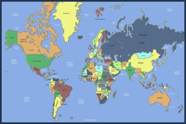 Dark World Map Mural